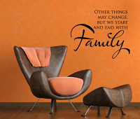 End With Family Wall Decal
