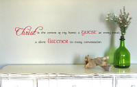 Christ Listener Every Meal Wall Decal