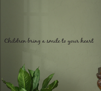 Children Bring A Smile Wall Decals