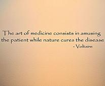 Voltaire Art Of Medicine Wall Decal