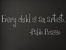 Picasso Child Artist Wall Decals
