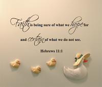 Faith Is Being Sure Wall Decal