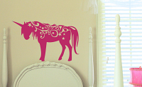 Swirly Unicorn Wall Decal
