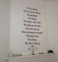 In This Family Angelina Wall Decal