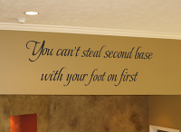 Can't Steal Second Wall Decals