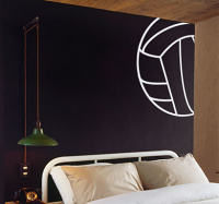 Volleyball Lines Wall Decal
