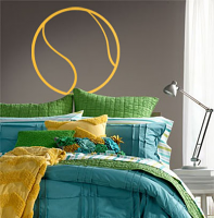 Tennis Ball Outline Wall Decal