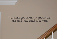 Sweat In Practice Wall Decal
