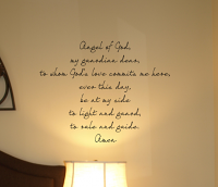 Angel Of God My Guardian Angel Wall Decal
