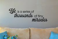 Tiny Miracles Wall Decal
