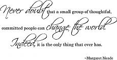 Small Group People Change World | Wall Decals