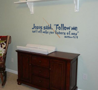 Jesus Said Follow Me Decal