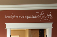 Love Truth Action Wall Decal