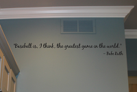 Baseball Greatest Game Wall Decal