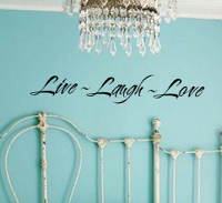Live Laugh Love II Wall Decal