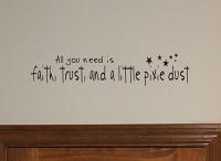 Faith, Trust, Pixie Dust Stars Wall Decal