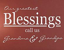 Blessings Call Us Grandparents Wall Decals