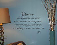 Name Before I Formed You Wall Decals