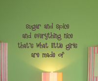 Little Girls Made Wall Decal