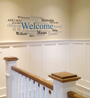 Welcome in Different Languages Wall Decal