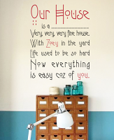 Our House Custom Wall Decal