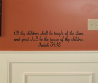 All Thy Children Wall Decal