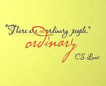 No Ordinary People Wall Decal