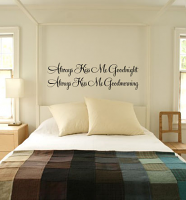 Kiss Me Goodnight, Kiss Me Goodmorning Wall Decal