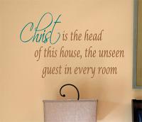 Christ Head House Unseen Guest Wall Decal