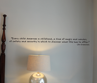 Every Child Deserves A Childhood Wall Decal