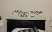 All Because | Wall Decal