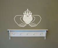 Claddagh Irish Wall Decal
