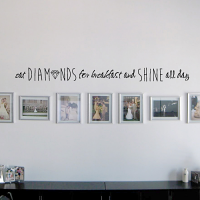 Diamonds for Breakfast Wall Decal