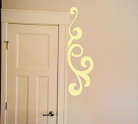 Simply Scrolls Scroll 128 Wall Decal