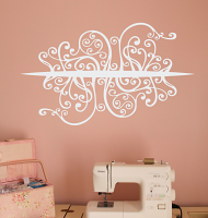 Vertical Swirls Wall Decal