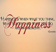 Happiness Gandhi Wall Decals
