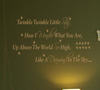 Twinkle Twinkle Stars Wall Decals