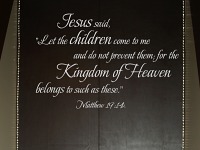 Let The Children Come To Me Wall Decals