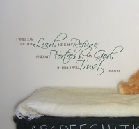 The Lord Refuge Wall Decal
