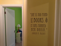 She Is Too Fond Of Books Wall Decal