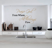 Praise God Wall Decal