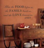 Food Family Love Wall Decal