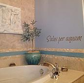 Salus Per Aquam Wall Decal
