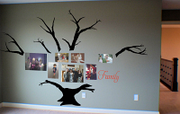 Family Photo Tree 3 With Bare Branches Wall Decal