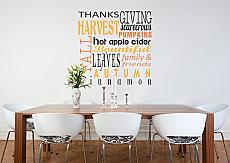 Thanksgiving Subway Art Wall Decal Item