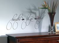 Breathe Let Go Wall Decal