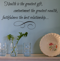 Health Contentment Faithfulness Wall Decal