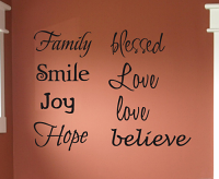 Inspirational Words Multi Fonts Wall Decal