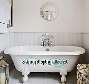 Skinny Dipping Allowed Wall Decals