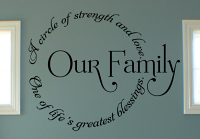 Our Family Circle III Wall Decal